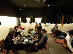 左から2列目一番奥が斎藤店長です。私の周りのいる方々がいつもツーリングやサーキットにいく仲間たち(先輩ですが)です。