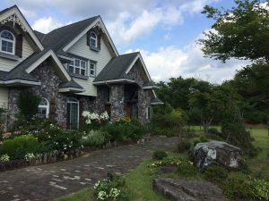 モデルハウスです。家の前のに広がるお庭が最高に素敵です。