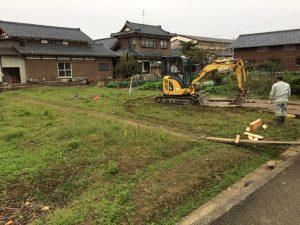 西蒲区で土留め工事盛土工事の真最中です。今日現在はもっと進んでおります。