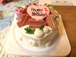 妻にお誕生日おめでとうのケーキです!