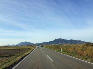 秋晴れの下?角田山と弥彦山の悠然とした眺