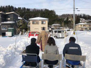 雪上地鎮祭IN加茂市です。